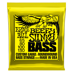 Beefy Slinky Nickel Wound Electric Bass Strings - 65-130 Gauge Thumb