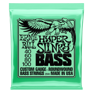 Hyper Slinky Bass Nickel Wound Electric Bass Strings 40-100 Gauge Thumb