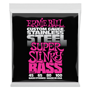 Super Slinky Stainless Steel Electric Bass Strings - 45-100 Gauge Thumb