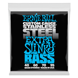 Extra Slinky Stainless Steel Electric Bass Strings - 40-95 Gauge Thumb