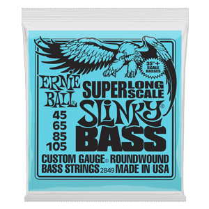 Super Long Scale Slinky Electric Bass Strings - 45-105 Gauge Thumb