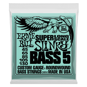 Bass 5 Slinky Super Long Scale Electric Bass Strings - 45-130 Gauge Thumb