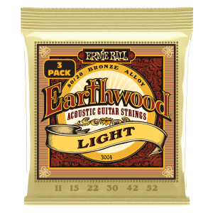 Earthwood Light 80/20 Bronze Acoustic Guitar Strings 3-Pack - 11-52 Gauge Thumb