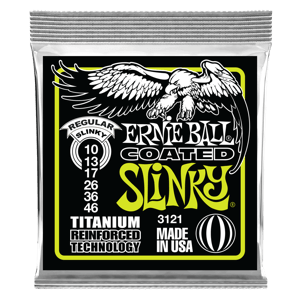 Regular Slinky Coated Titanium RPS Electric Guitar Strings - 10-46 Gauge Thumb