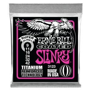 Super Slinky Coated Titanium RPS Electric Guitar Strings - 9-42 Gauge Thumb