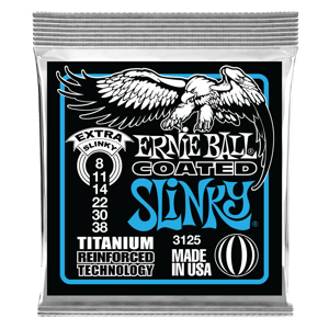 Extra Slinky Coated Titanium RPS Electric Guitar Strings - 8-38 Gauge Thumb
