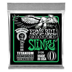 Not Even Slinky Coated Titanium RPS Electric Guitar Strings - 12-56 Gauge Thumb