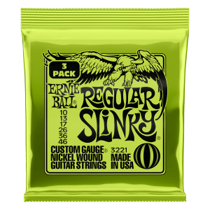 Regular Slinky Nickel Wound Electric Guitar Strings 3 Pack - 10-46 Gauge Thumb