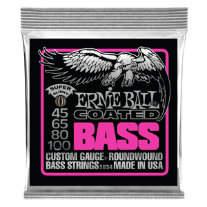 Super Slinky Coated Electric Bass Strings - 45-100 Gauge Thumb