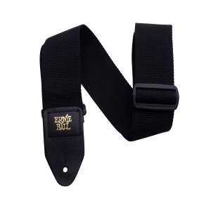 Black Polypro Guitar Strap Thumb