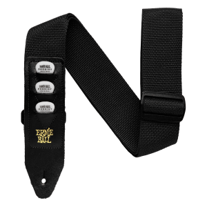 Ernie Ball Black Pickholder Strap Thumb