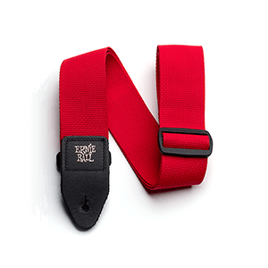 Red Polypro Guitar Strap Thumb