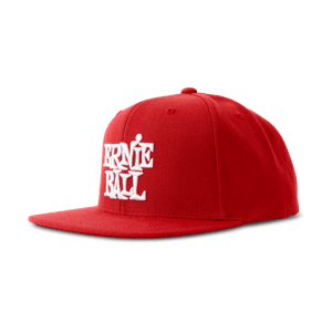 Red with White Stacked Ernie Ball Logo Hat Thumb