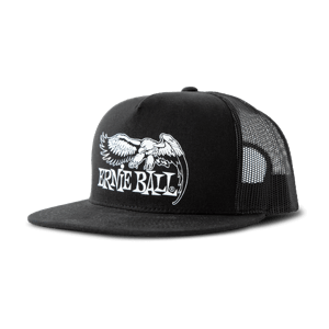 Black with White  Eagle Logo Hat Thumb