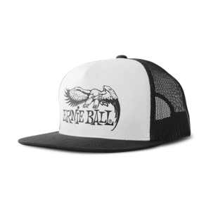 Black with White Front and Black Ernie Ball Eagle Logo Hat Thumb