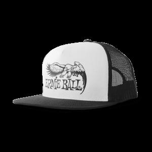 Boné preto com a frente branca e o logo Ernie Ball Eagle em preto Thumb