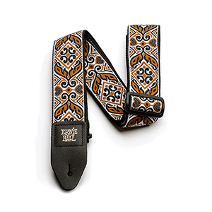 Ernie Ball Tribal Brown Jacquard Gitarrengurt Thumb