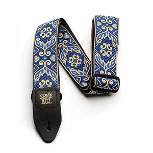 Ernie Ball Tribal Blue Jacquard Gitarrengurt Thumb