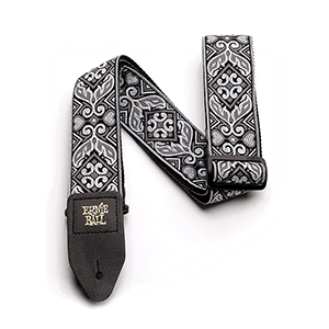 Ernie Ball Tribal Silver Jacquard Gitarrengurt Thumb