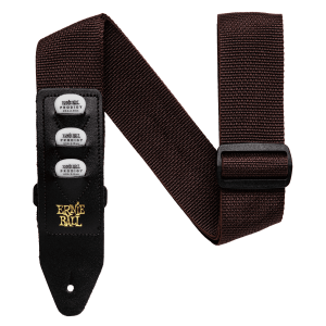 Ernie Ball Brown Pickholder Strap Thumb