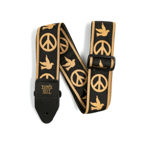 Ernie Ball Peace Love Dove Jacquard Strap Thumb