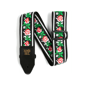 Ernie Ball Winter Rose Jacquard Strap Thumb