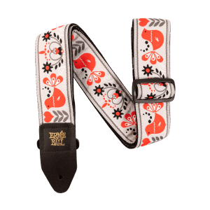 Ernie Ball Red Bird Winter Jacquard Strap Thumb