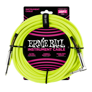 Cable amarillo  25' Braided Straight / Angle para instrumento Thumb
