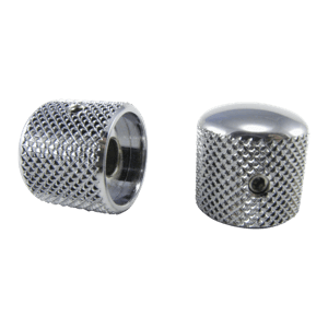 Tele-style Knobs Chrome Plated Brass Set of 2 Thumb