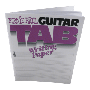 Cuaderno de pentagramas. Tablaturas para guitarra. Thumb