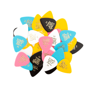 Heavy Assorted Color Cellulose Picks, bag of 144 Thumb