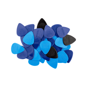 Mixed Thickness Nylon Picks (Thin, Medium, Heavy) bag of 50 Thumb