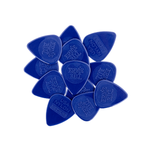 Medium Injection Molded Nylon Picks 0.72mm bag of 12 Thumb