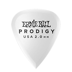 2,0 mm White Standard Prodigy Picks 6er Pack Thumb