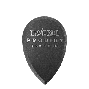 Ernie Ball 1.5mm Black Teardrop Prodigy Picks 6-pack Thumb