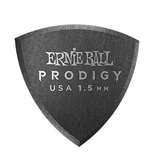 Ernie Ball médiators Prodigy bouclier noir 1,5 mm - pack de 6 Thumb