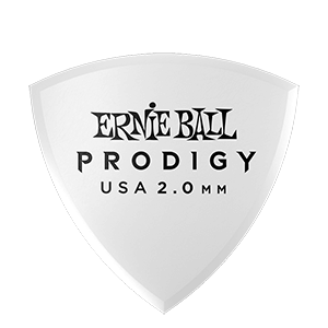 Ernie Ball 2.0mm White Shield Prodigy Picks 6-pack Thumb