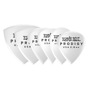 Ernie Ball 2.0mm White Multipack Prodigy Picks 6-pack Thumb