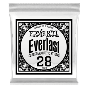 .028 Everlast Coated Phosphor Bronze Acoustic Guitar Strings 6 Pack Thumb