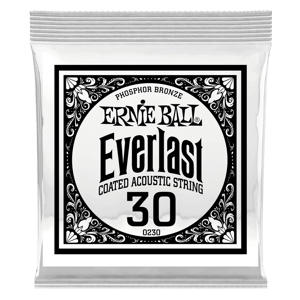 .030 Everlast Coated Phosphor Bronze Acoustic Guitar Strings 6 Pack Thumb