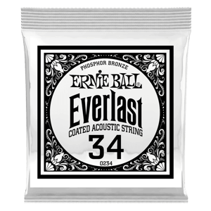 .034 Everlast Coated Phosphor Bronze Acoustic Guitar String Thumb