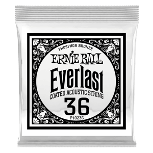 .036 Everlast Coated Phosphor Bronze Acoustic Guitar Strings 6 Pack Thumb