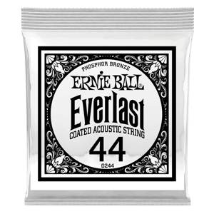 .044 Everlast Coated Phosphor Bronze Acoustic Guitar Strings 6 Pack Thumb