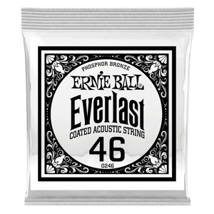 .046 Everlast Coated Phosphor Bronze Acoustic Guitar Strings 6 Pack Thumb