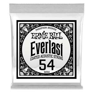 .054 Everlast Coated Phosphor Bronze Acoustic Guitar Strings 6 Pack Thumb