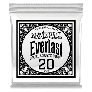 Everlast Coated 80/20 Bronze Acoustic Guitar Single Strings