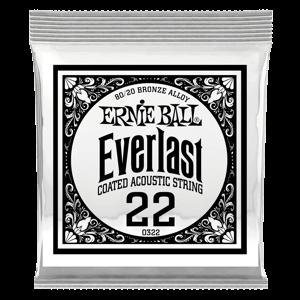 .022 Everlast 镀膜黄铜木吉他琴弦6 支装 Thumb