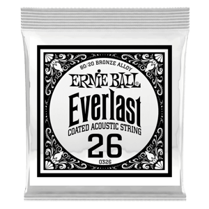 .026 Everlast Coated 80/20 Bronze Akustik-Gitarrensaite 6er Pack Thumb
