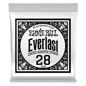 .028 Everlast 镀膜黄铜木吉他琴弦6 支装 Thumb