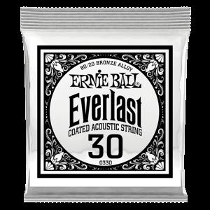 .030 Everlast 镀膜黄铜木吉他琴弦6 支装 Thumb